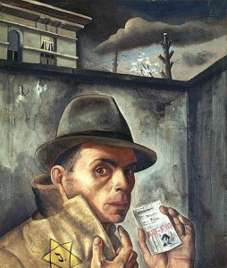 "Nussbaum: ""Self-Portrait with Jewish Identity Card"""