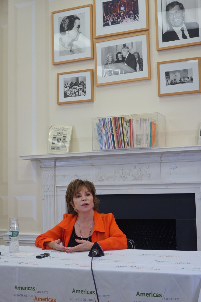 Isabel Allende, America's Society/NYC, April 15/2014