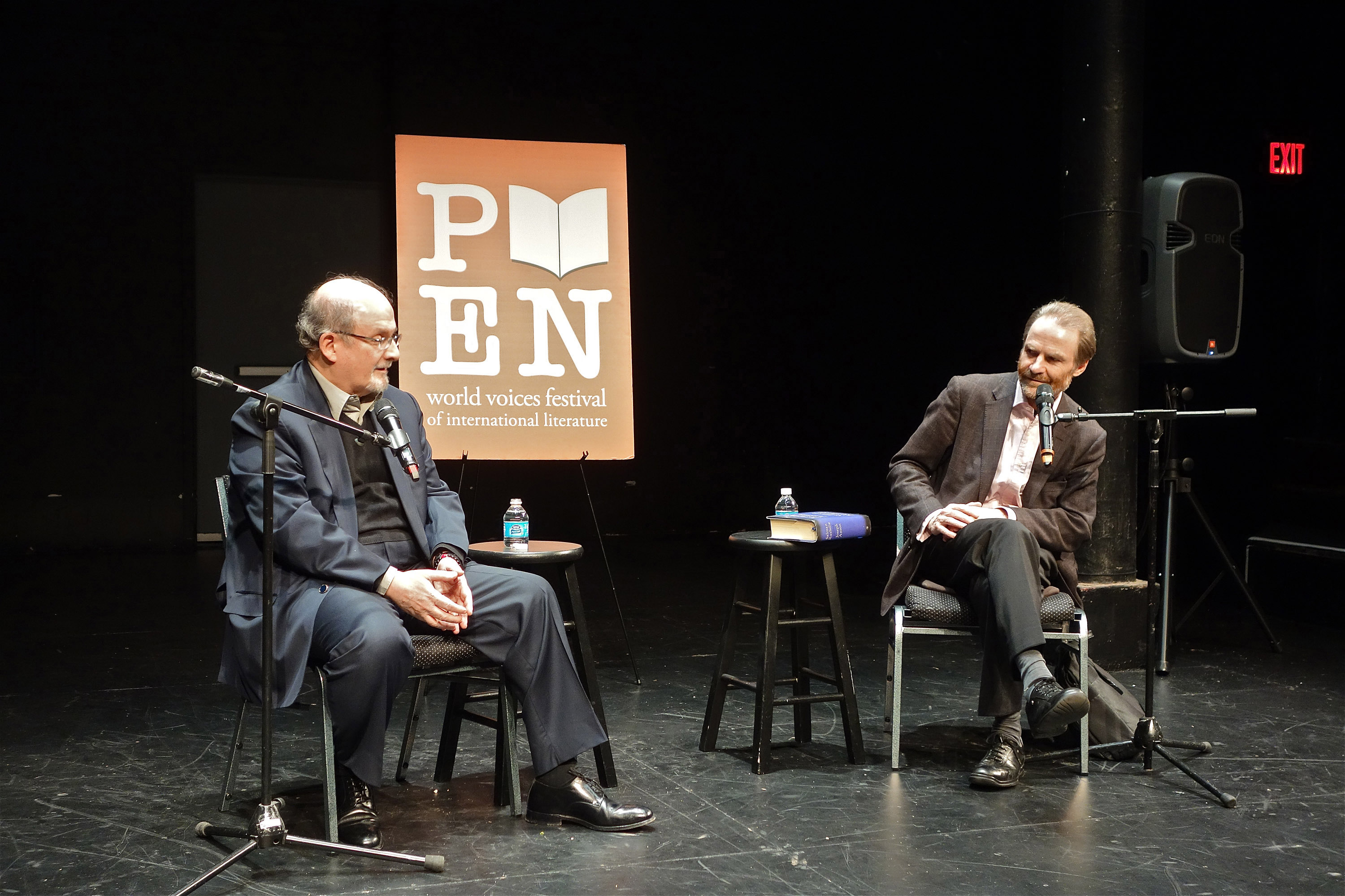salman rushdie the book haven salman rushdie timothy garton ash chat at p e n festival in nyc