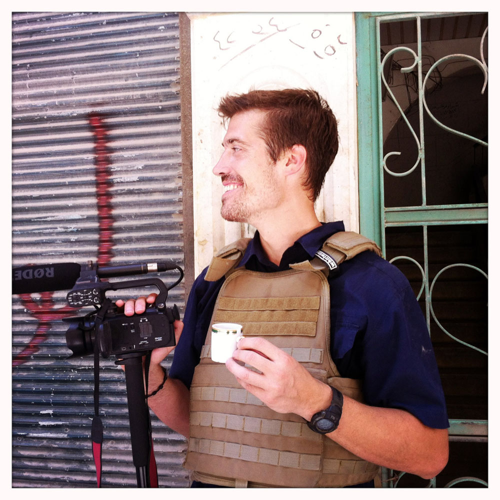 James Foley, Aleppo, Syria - 07/12. Photo: Nicole Tung. Authorized use: alongside article on James Foley's kidnapping in Syria only.