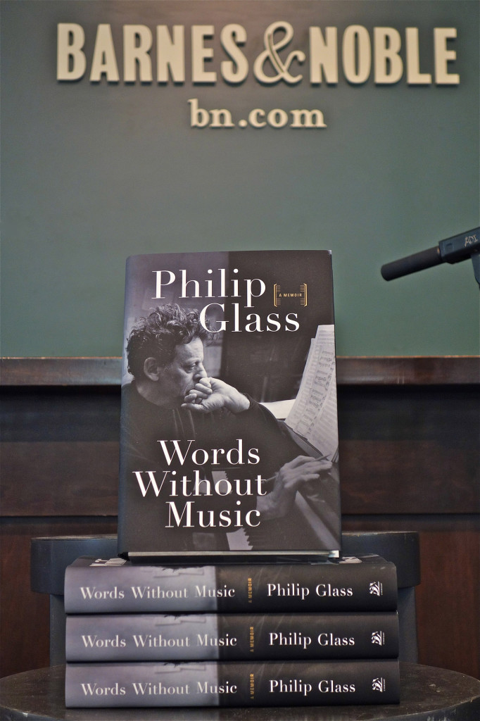Philip Glass books; Barnes & Noble; Uniion Square; NYC. 3/6/2015