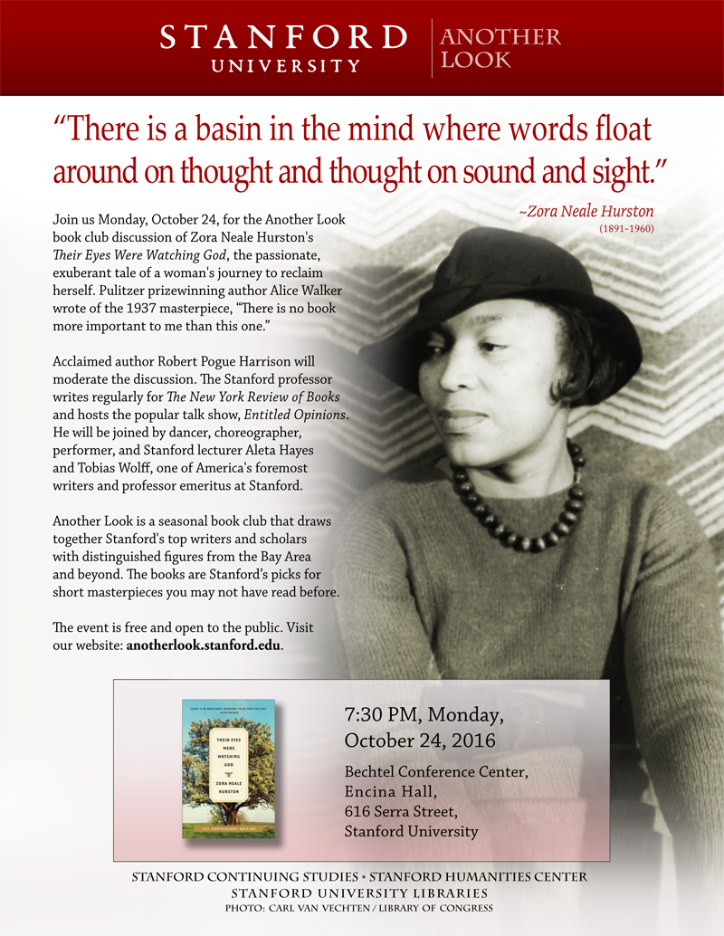 join us on monday oct 24 for zora neale hurston s their eyes hurston poster email