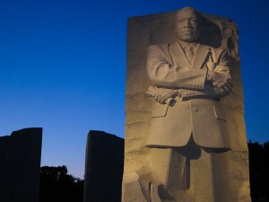Martin_Luther_King,_Jr._National_Memorial_Stone_of_Hope_at_Dusk