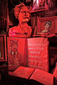 Holiday window display in NYC. 12/2014Gergdorf & Goodman 'Literatre' detail