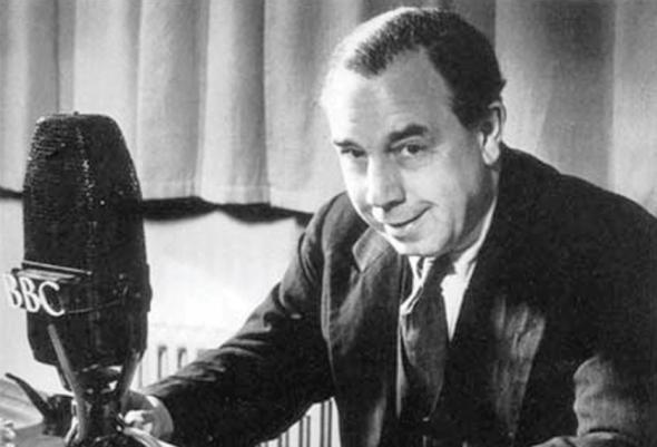 J.B. Priestley: one of the best-known voices during the Blitz