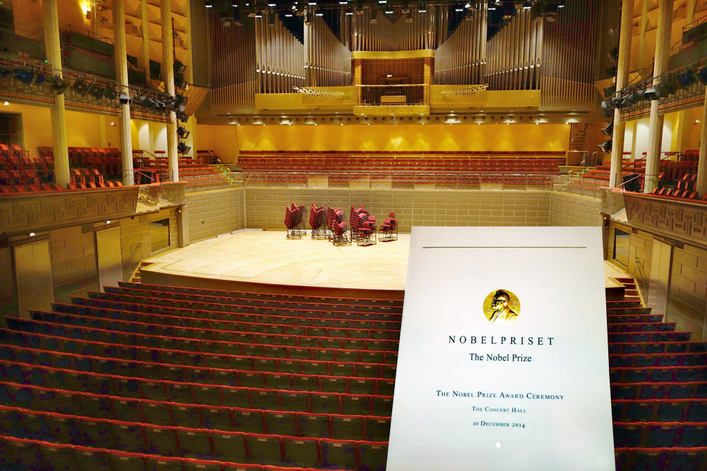 Concert Hall with nobel program. Stockholm 8/2015